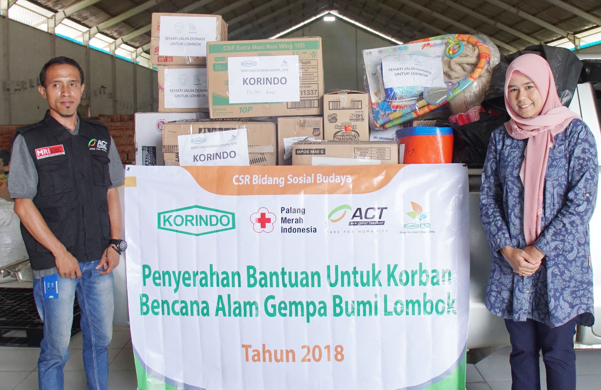 KORINDO Helps Earthquake Victims in Lombok and Sulawesi