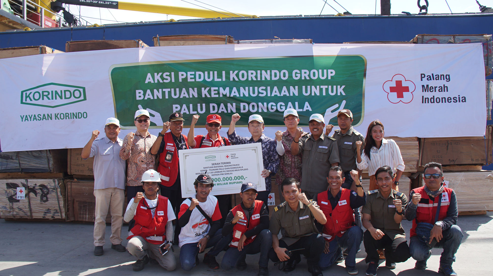 Korindo Foundation's Rp 7 Billion Aid Arrives in Palu